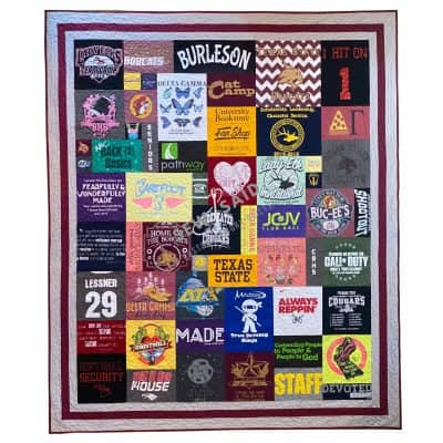 Collage - Burleson Texas - Custom Memory T-Shirt Quilt by SewISaid.com