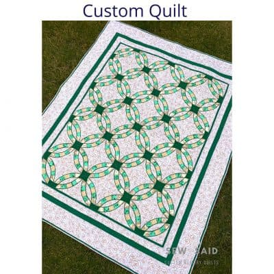 Custom - Double Wedding Ring - Custom Memory T-Shirt Quilt by SewISaid.com