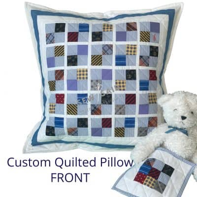Double Sided Quilted Memory T-Shirt Pillow by SewISaid.com