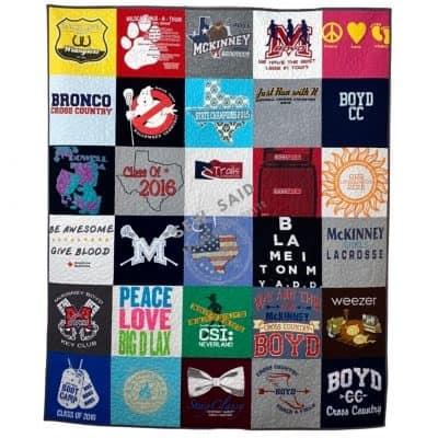 Milestone - Full - Custom Memory T-Shirt Quilt by SewISaid.com