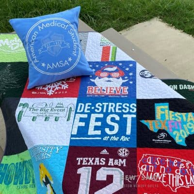 Milestone - Full Staged - Custom Memory T-Shirt Quilt by SewISaid.com