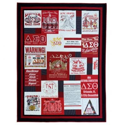 Collage - Greek - Delta Sigma Theta Sorority - Custom Memory T-Shirt Quilt by SewISaid.com