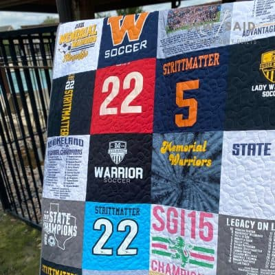 Milestone Twin - Custom Memory T-Shirt Quilt by SewISaid.com